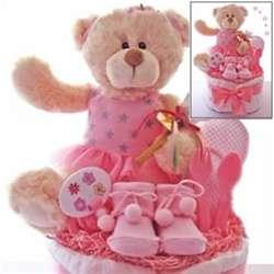 Baby Ballerina Bear Diaper Cake