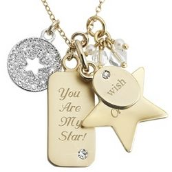 Make-A-Wish Star Gold Necklace