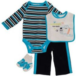 Handsome Like Daddy 4-Piece Baby Gift Set