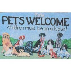 Pets Welcome Children on Leash Doormat