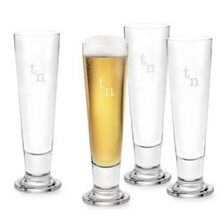 Pilsner Glasses with Monogram