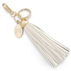 Cream Tassel Key Chain