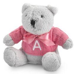 Raspberry Knit Sweater Bear