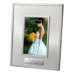Starburst Personalized Silver Photo Frame