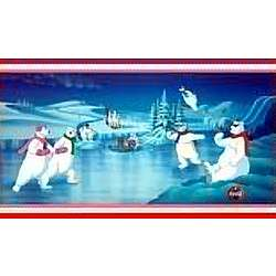Coca-Cola Polar Bears Winter Scene Animated Cel