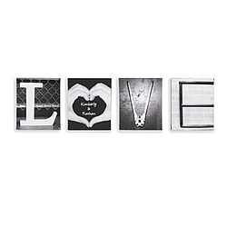 Personalized Love Word Canvases