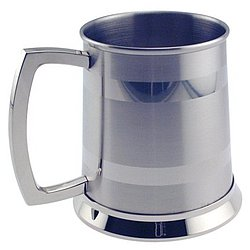 Personalized Stainless Steel Satin & Stripe Tankard