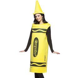 Yellow Adult Crayola Crayon Costume