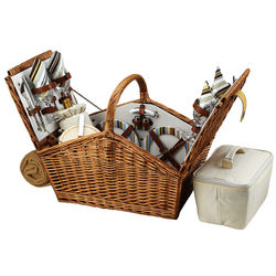 Huntsman Santa Cruz Picnic Basket for 4 with Picnic Blanket