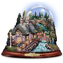 "Thomas Kinkade ""Love in Bloom"" Musical Water Globe"