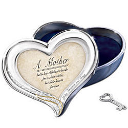 Heart to Heart Recordable Trinket Box with Photo Frame Lid