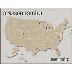 Personalized Heart at Home Family Map