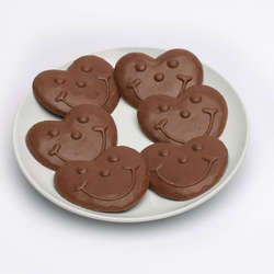 Heart Shaped Smiley Chocolates