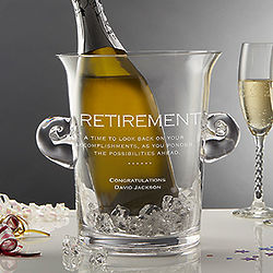 Personalized Crystal Chiller Ice Bucket Retirement Gift