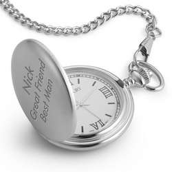 Pocket Watch with White Dial