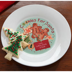 Personalized Cookies & Milk for Santa Plate