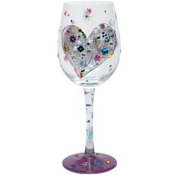 Silver Lining Wine Glass