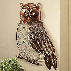 The Watchful, Wizened Owl Wall Hanging