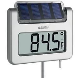 Solar-Powered Garden Thermometer