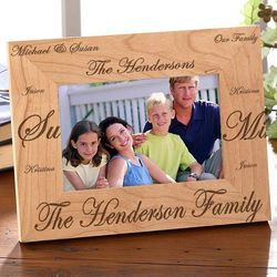 Family Traditions Personalized Wood Picture Frame