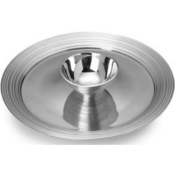 Swirl Aluminum Chip and Dip Set