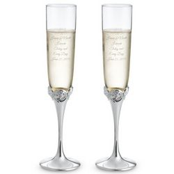 Monique Lhuillier Sunday Rose Champagne Toasting Flutes