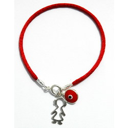 Girl Protection Charms on Red String Bracelet