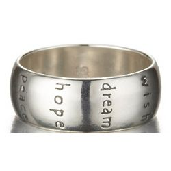 Spiritual Sterling Silver Imagine Soul Faith Ring