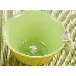Bunny Surprise Green Bowl