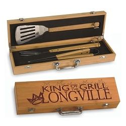 King of the Grill Personalized Barbecue Set