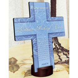 Personalized Twinkling Star Prayer Cross