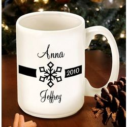 Personalized Our First Christmas Snowflake Mug