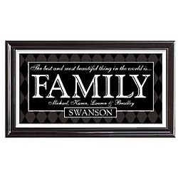 Personalized Best Things Family Framed Print