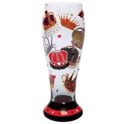 King of Hearts Pilsner Glass