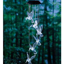 Hummingbird Solar Powered LED Lights Mobile