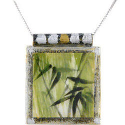 Bamboo Art Pendant Necklace