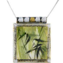 Bamboo Art Pendant Necklace