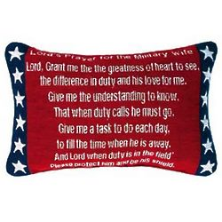 Lord's Prayer for the Military Wife Pillow