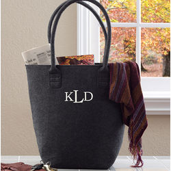 Personalized Charlotte Tote Bag with Raised Monogram