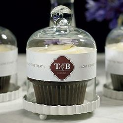 Miniature Glass Bell Jars with a White Fluted Base