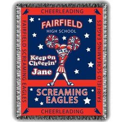 Cheerin' Personalized Cheerleading Afghan