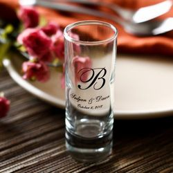 Monogram Personalized Double Shot Glasses