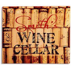 Personalized Wine Cellar Aluminum Sign