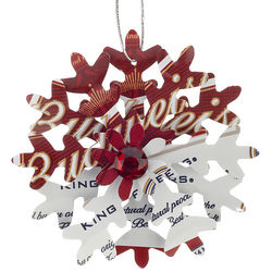 Budweiser Snowflake Christmas Ornament