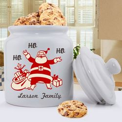 Personalized Vintage Santa Christmas Cookie Jar