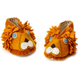 Handcrafted Lion Baby Booties