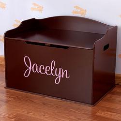 Austin Personalized Cherry Wood Toy Box