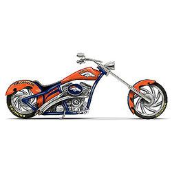 Denver Broncos Chopper Figurine