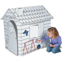 Kids Color Your Own Playhouse