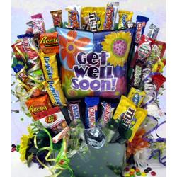 Cheerful Wishes Get Well Large Candy Bouquet